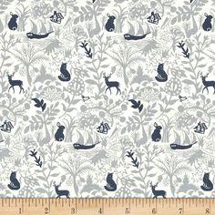 Dear Stella Enchanted Secret Forest Grey Fabric By The Yard