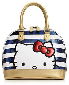 HK |❣| HELLO KITTY Americana Top Handle Sequined Satchel
