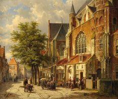Willem Koekkoek - Dutch Cityscape