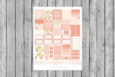 February 2016 Erin Condren Life Planner Horizontal Layout by CleverDesignPrints on Etsy