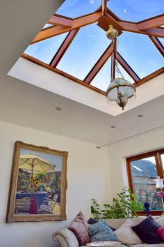 Glass atrium in hardwood orangery