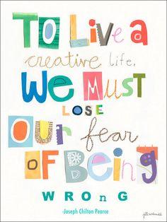 To Live A Creative Life Canvas Art