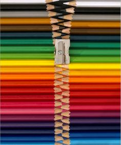 zipper, conceptual photography by KPK http://kpk-photography.de/ http://1x.com/artist/7271 #colors #pencils #zip
