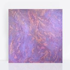 Comprised of hundreds of circles and dots of various sizes the layers of colour create an optical mix painting. Acrylic Painting Canvas, Canvas Art, Circles, Jacaranda Trees, Thumbprint Tree, Purple Painting, Glitter Chevron, Layers, Dots