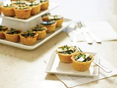 Mini Quiche Florentine you can serve as an easy warm appetizer.