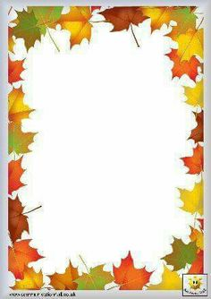 Image renooosult for fall writing paper templates Page Borders Design, Border Design, Page Borders Free, Borders For Paper, Borders And Frames, School Frame, Writing Paper, Printable Paper, Printable Border