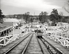 "Louisville, Kentucky, circa 1910. ""The White City."" One of many ""White City"" amusement parks, which took their name from the plaster-slathered architectural style popularized by the 1893 Columbian Exposition."