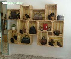 Mesas de madera recuperadas en pinterest muebles de for Muebles para zapatos bogota