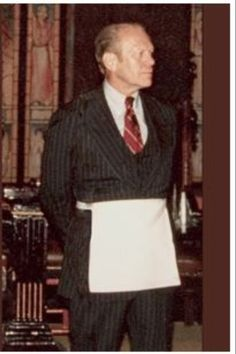Brother Gerald Ford in Masonic Apron