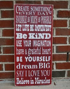 I love this!  My birthday is coming up just saying...lol...NEW Family Rules Sign  Let Life Be Imperfect  by barnowlprimitives, $95.00