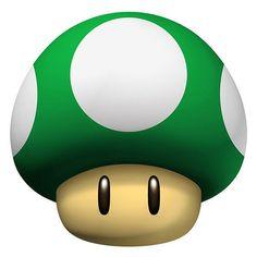 Great  Super Mario Brothers green mushroom t-shirt iron on transfer