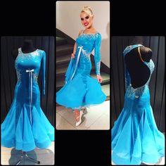 Amazing and unique ballroom dress FOR SALE ! #ballroom #ballroomdressforsale #dressforsale #wdsf #standarddress #dancing #design #unique #dlk #dlk_united_design