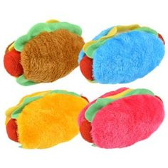 Plush Hamburgers and Hot Dogs