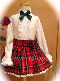 Little Dresses, Little Girl Dresses, Cute Dresses, Girls Dresses, Toddler Dress, Baby Dress, Baby Girl Fashion, Kids Fashion, Tartan Dress