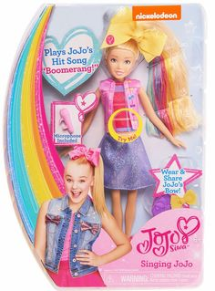 New JoJo Siwa Singing Doll Sings Boomerang Microphone Bow Fast Shipping Jojo Jojo, Jojo Siwa Birthday, 8th Birthday, Unicorn Birthday, Unicorn Party, Jojo Boomerang, Jojo Siwa Bows, Its Jojo Siwa, Hit Songs