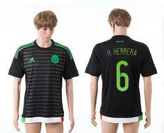 AAA+ Thailand 2015 Mexico  6 H.HERRERA America Cup Home Black Soccer Jersey  prices USD  19.50  cheapjerseys  sportsjerseys  popular jerseys  NFL  MLB   NBA 7871637d6ec