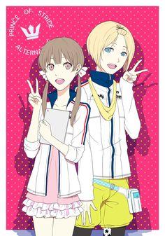 Sakurai Nana y Kohinata Hozumi ~ Prince of Stride: Alternative (Deporte, Carreras, Anime Invierno 2016)