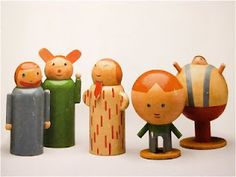 "Minka Podhajska, ""Series of Personifications of Childhood Misdeeds""  1930. Toys of the Avant-Garde Exhibition."