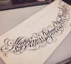 너무 길다..종이에 구멍날뻔했네요ㅎㅎㅎ#tattoo_grain#chicano#chicanolettering#chicanoscript#chicanoart#letteringtattoo#치카노#치카노레터링