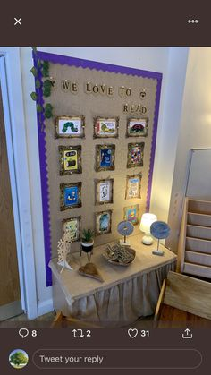 Reggio Classroom, New Classroom, Classroom Setup, Classroom Displays, Kindergarten Classroom, Eyfs Activities, Craft Activities For Kids, Book Corners, Reading Corners