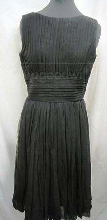 shopgoodwill.com: Vintage Black Chiffon Dress - Ann Marsh New York