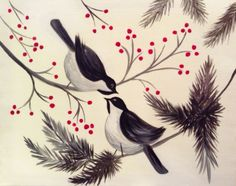 Paint Nite Pittsburgh | Chatting Chickadees - Arena Sports Grille 12/15/2015