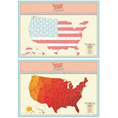 Luckies Of London The United States Of America Scratch Map DIYs - Scratch us map