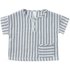 Storm Stripe Woven Henley Top by Rylee + Cru - Junior Edition Baby Boy Fashion Clothes, Baby Kids Clothes, Baby Boy Outfits, Kids Outfits, Kids Fashion, Toddler Sewing Patterns, Baby Sewing, Kids Nightwear, Handmade Baby Clothes