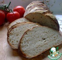 Белый хлеб на жидкой закваске. vermont sourdough