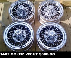 For sale four 14x7 fwd weld wheels star wire wheels. $500.00. Contact @ chopshopmagazine2016@gmail.com
