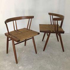 sidecar_furnitureRestored #GeorgeNakashima Grass Seated Chairs