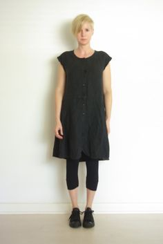 "I liked the shape of this ""linen tunic"" and saw that it is Flax (brand). Only then did I realize I own it; I just wear it as a vest only so never thought to style it like this!"