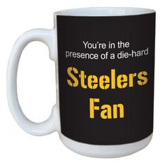 TreeFree Greetings lm44132 Steelers Football Fan Ceramic Mug with FullSized Handle 15Ounce * Details can be found by clicking on the image.