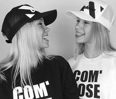 For those of you who cant tell them apart lisa has more blonde hair, lena has dark blonde and brown hair mixed. 👈lisa 👉lena in this picture lisa is on the left, and lena is on the right. Black And White Theme, Black N White, Lisa And Lena Clothing, Lisa Or Lena, Twin Outfits, Future Clothes, Dark Blonde, Blonde Hair, Tumblr Girls