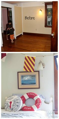 Boys Bedroom Before and After