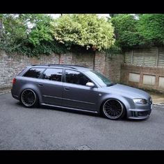 Audi A6 estate Wagon - Instagram photo by @lowconformists (Low Conformists) | Statigram stance Matt black