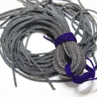 Style:- French Wire  Colour:- Gunmetal  Product Details:- Also known as bullion or gimp,is a fine coil wire used by Apparel & Accessory designers. In Apparel, it can be used to do different kind of embroidery using Zardosi technique and In Accessory , It is used to conceal beading wire next to crimps and clasps. Proponents maintain that French wire gives jewelry an elegant, professionally finished look while also protecting and strengthening the ends of the beadwork.