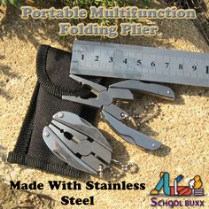 Get these multifunction stainless steel pliers- you can keep it wherever you go! #Multiplier #Knife