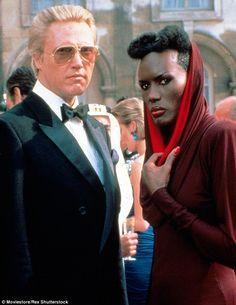 Christopher Walken and Grace Jones captured in now-iconic costume ...