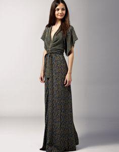 issa kimono maxi twist dress - designer did a great study and made it modern - I dig it!