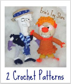 Snow Miser and Heat Miser 2 Crochet Patterns by ErinScullsToyStore, $7.00