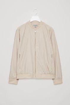 COS image 5 of Lightweight bomber jacket in Sand Timeless Fashion, Man, Parka, Adidas Jacket, Raincoat, Shirt Dress, Blazer, Casual