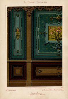 The Prints Collector :: Antique Print-DECORATION-ORNAMENT-MODERN RENAISSANCE STYLE-PLATE 16-Gruz-1860