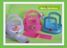 As embalagens plásticas de amaciante se acumulam e demoram pra se decompor, certo? Que tal fazer brinquedos para a praia reutilizando estas embalagens? Inspire-se nestas ideias e crie seus brinquedos de praia com embalagens de amaciante.
