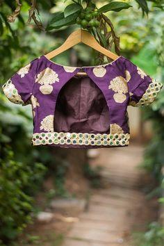 Brocade Blouses, Mirror Work, Blouse Designs, Photography Ideas, Baby Car Seats, Detail, Zip, Purple, Happy