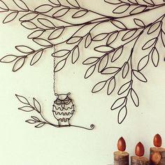 とり雑貨/ワイヤーアート/ウォールデコ/ハンドメイド/壁/天井のインテリア実例 - 2015-11-15 16:29:58 | RoomClip(ルームクリップ) Wire Wall Art, Metal Tree Wall Art, Hobbies And Crafts, Diy And Crafts, Arts And Crafts, Wire Crafts, Metal Crafts, Copper Wire Art, Wire Art Sculpture