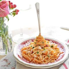 Lobster Linguine in Blushing Saffron Sauce# recipe via Simple Seasonal http://www.yummly.com/recipe/Lobster-Linguine-in-Blushing-Saffron-Sauce-1491866