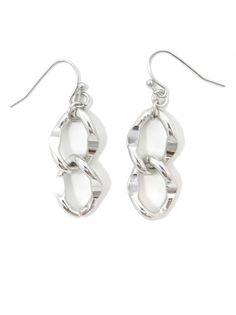 Silver Chain Link Earrings - $5.00 : FashionCupcake, Designer Clothing, Accessories, and Gifts