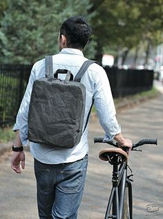 SIWA - washi paper-made rucksack by Naoto Fukasawa