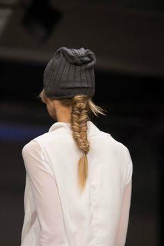 Cute fishtail braids for the NYNE show at NZ Fashion Week.